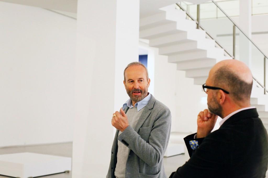 Erwin Wurm und Dr. Thomas Köhler, Berlinische Galerie (c) Foto: Sandra Ratkovic